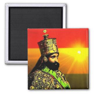 King Selassie I Pin (Square Pin) Magnet