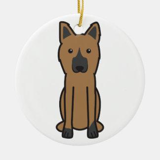 King Shepherd Dog Cartoon Christmas Ornament