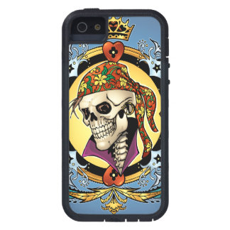 King Skull Pirate with Hearts by Al Rio iPhone 5 Cover