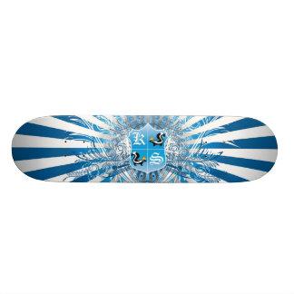 King Skunk Shielded Blue Sun Rays Skate Boards