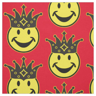 King Smiley yellow + your backg. & ideas Fabric
