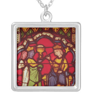 King Solomon and the Queen of Sheba, c.1270 Pendants