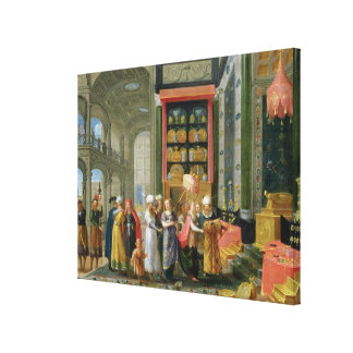King Solomon and the Queen of Sheba Canvas Print