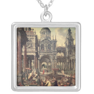 King Solomon and the Queen of Sheba Silver Plated Necklace
