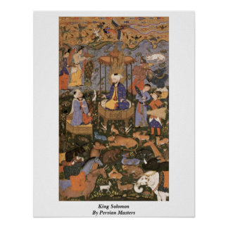 King Solomon By Persian Masters Posters