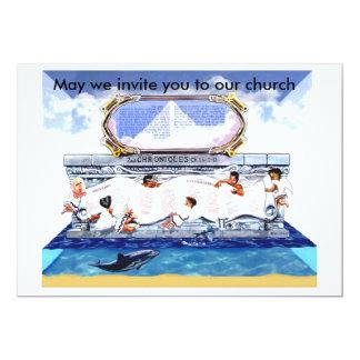 King solomon's blessings 13 cm x 18 cm invitation card