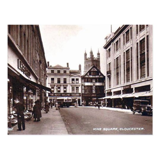 King Square, Gloucester Postcard