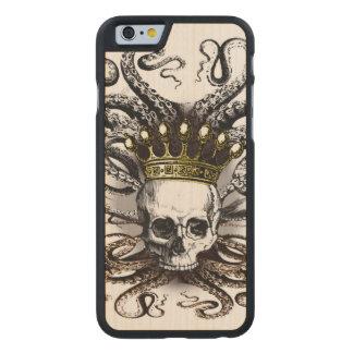 King Squid Skull Wood Case