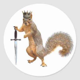 King Squirrel Stickers