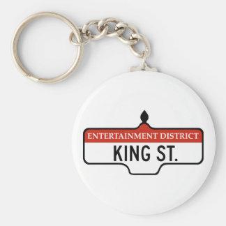 King Street Toronto Street Sign Keychains