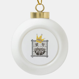 King Sudoku Bauble Ceramic Ball Christmas Ornament