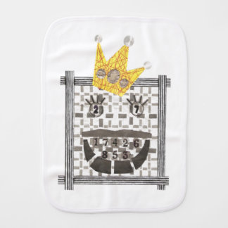 King Sudoku Burp Cloth