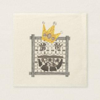 King Sudoku Ecru Napkins Disposable Serviettes