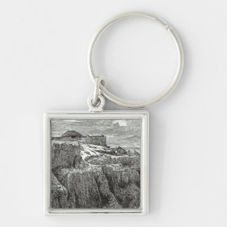 King Theodore's House Magdala Silver-Colored Square Key Ring