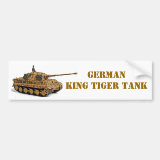 KING TIGER BUMPER STICKER