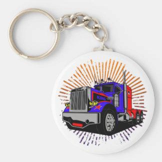 King Trucker Basic Round Button Key Ring