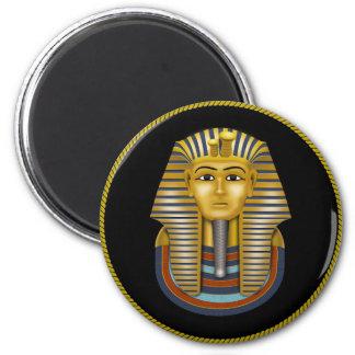 King Tut 6 Cm Round Magnet