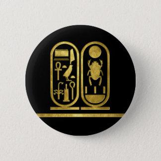 King Tut Cartouche 6 Cm Round Badge