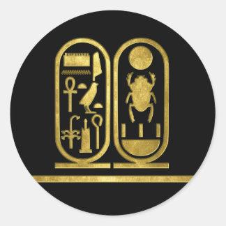 King Tut Cartouche Round Sticker