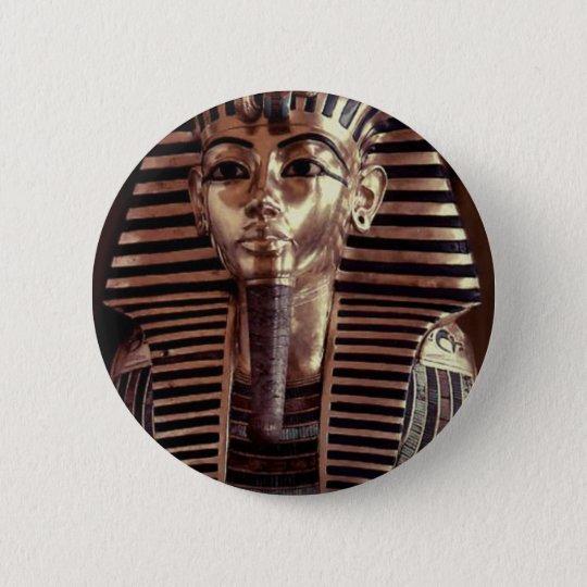King Tut mask 6 Cm Round Badge