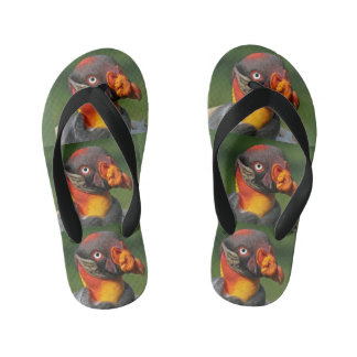 King Vulture - Interesting Character Kid's Flip Flops