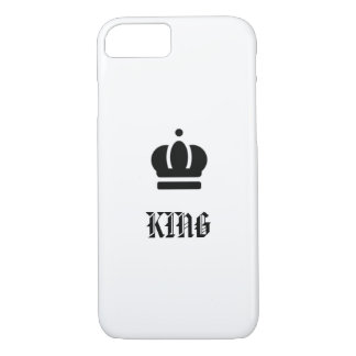 King with crown design, elegant and simple iPhone 8/7 case
