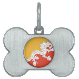 Kingdom of Bhutan flag, dragon fire Pet Tag