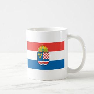 Kingdom of Dalmatia Croatia and Slavonia Flag Basic White Mug