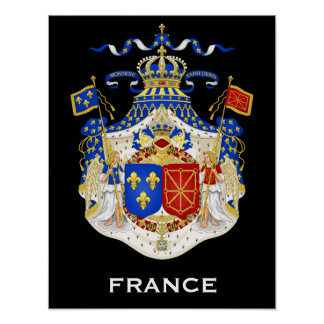 Kingdom of France Coat of Arms Poster