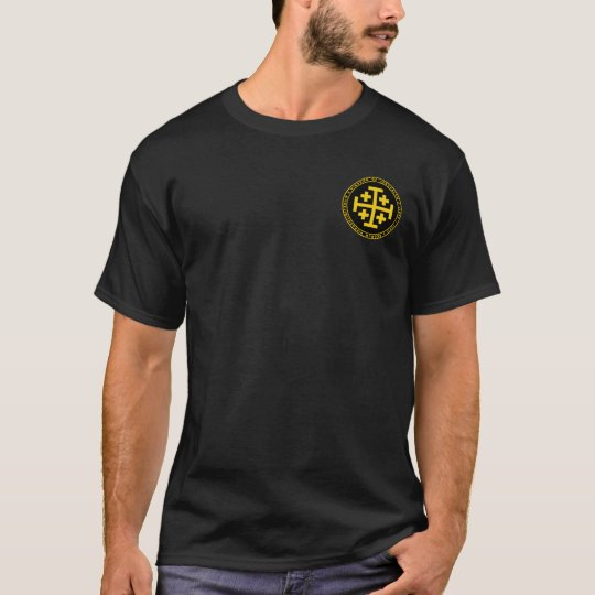 Kingdom of Jerusalem Black & Gold Seal Shirt