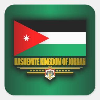 Kingdom of Jordan Flag Square Sticker