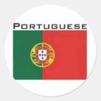 kingdom of Portugal Flag Classic Round Sticker
