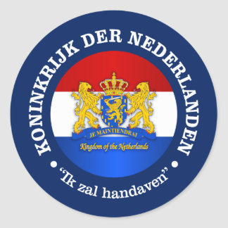 Kingdom of the Netherlands Classic Round Sticker