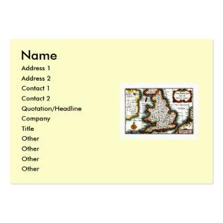 Kingdome of England (Kingdom of England) Map/Flag Business Card Templates