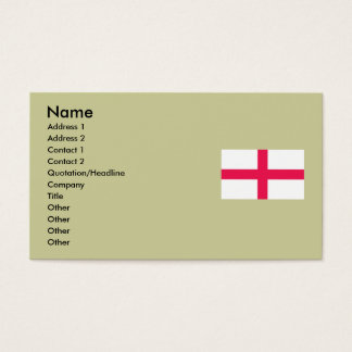 Kingdome of England (Kingdom of England) Map/Flag Business Card