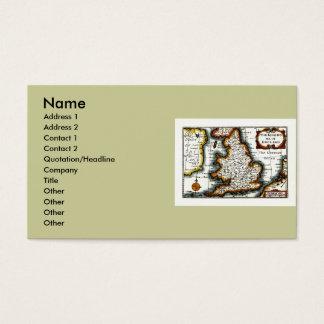 Kingdome of England (Kingdom of England) Map/Flag Business Card