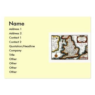 Kingdome of England (Kingdom of England) Map/Flag Pack Of Chubby Business Cards