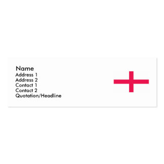 Kingdome of England (Kingdom of England) Map/Flag Pack Of Skinny Business Cards