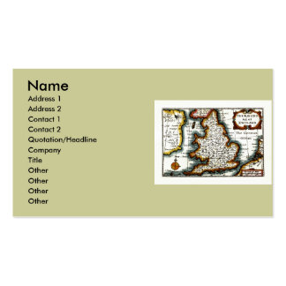 Kingdome of England (Kingdom of England) Map/Flag Pack Of Standard Business Cards