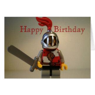Kingdoms Lion Knight Minifig Happy Birthday Card