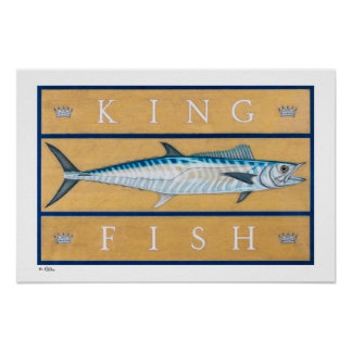 Kingfish Posters, Prints and Frames Poster