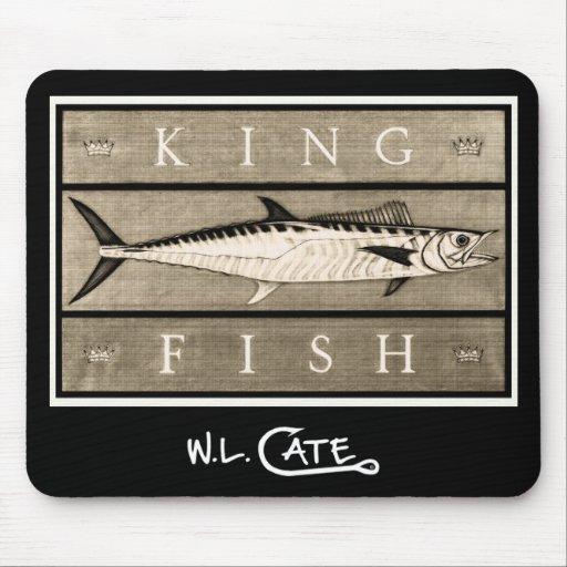 Kingfish Vintage Black & White Mouse Pads