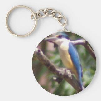 Kingfisher Basic Round Button Key Ring