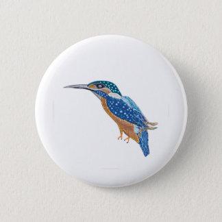 KingFisher Bird 6 Cm Round Badge