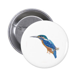 KingFisher Bird 6 Cm Round Badge