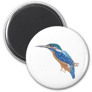 KingFisher Bird 6 Cm Round Magnet