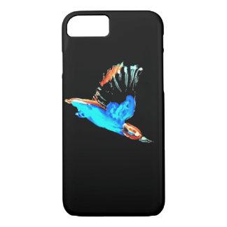 Kingfisher bird at Night iPhone 7 Case
