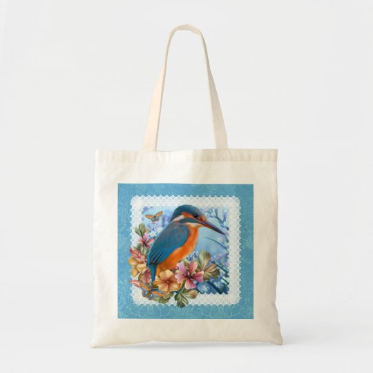 Kingfisher Bird Budget Tote