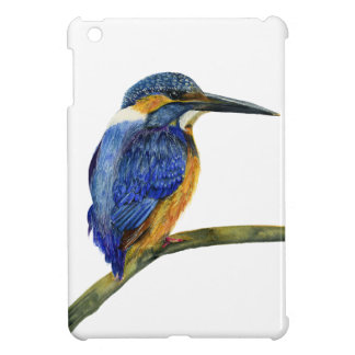 Kingfisher Bird Watercolor Halcyon Bird iPad Mini Cover