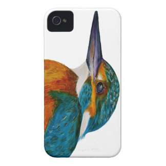 Kingfisher Bird Watercolor Halcyon Bird iPhone 4 Case-Mate Case
